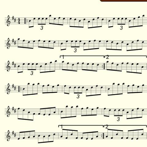 Master croweyl's reel - (Noten, Flöte, tin-whistle)