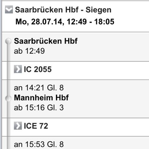 Rückfshrt - (Ticket, Bus, Zug)