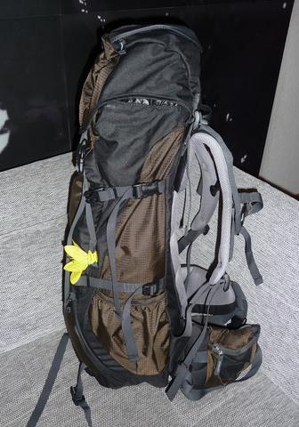 Der Rucksack von der Seite - (Rucksack, Backpacking)