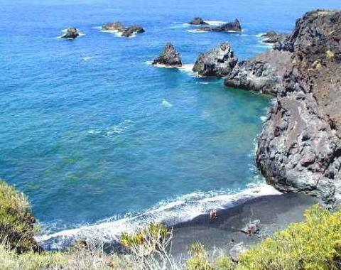Badebucht (FKK) La Palma, Las Monchas - (Urlaub, Kanaren, Teneriffa)