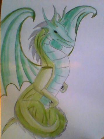 Drachenbeispiel - (zeichnen, Drachen)