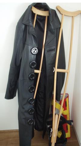 Ledermantel  - (Rock, Outfit, Mantel)