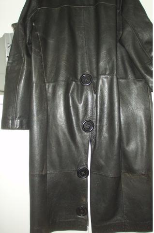 ledermantel große Knöpfe - (Rock, Outfit, Mantel)
