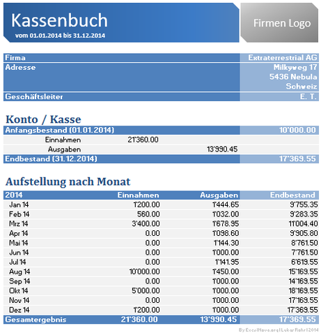 Kassenbuch Als Exceldatei Software Download Kostenlos