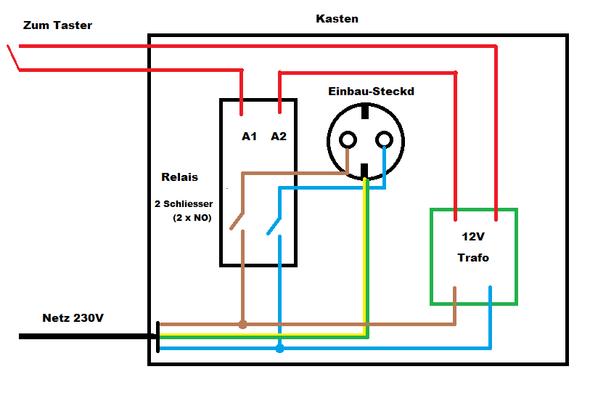 220v oberfr se mit niedrigvoltspannung schalten elektronik elektrik elektrotechnik. Black Bedroom Furniture Sets. Home Design Ideas