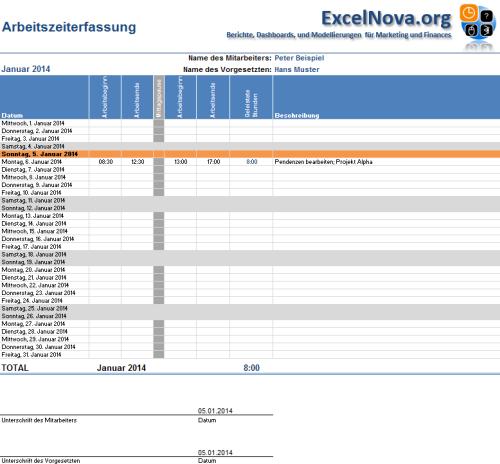 Excel Einfache Vorlage Zur Stundenerfassung Gesucht Differenz Zeiterfassung Stundenzettel