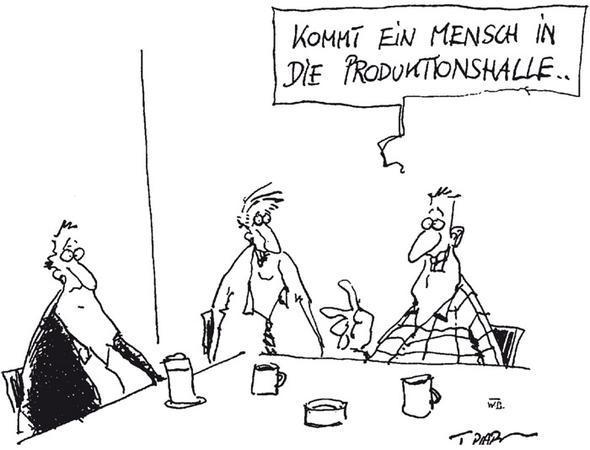 Kommt ein Mensch in die Produktionshalle - (Politik, Wirtschaft, Österreich)