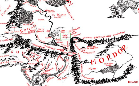 Lage der Totensümpfe - (Herr der Ringe, Hobbit, frodo)