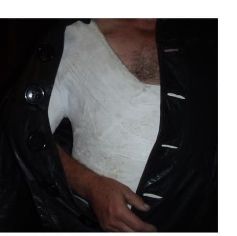 Steif gingegipst Schultergips Oberkörpergips Ledermantel  - (Knochen, brechen)