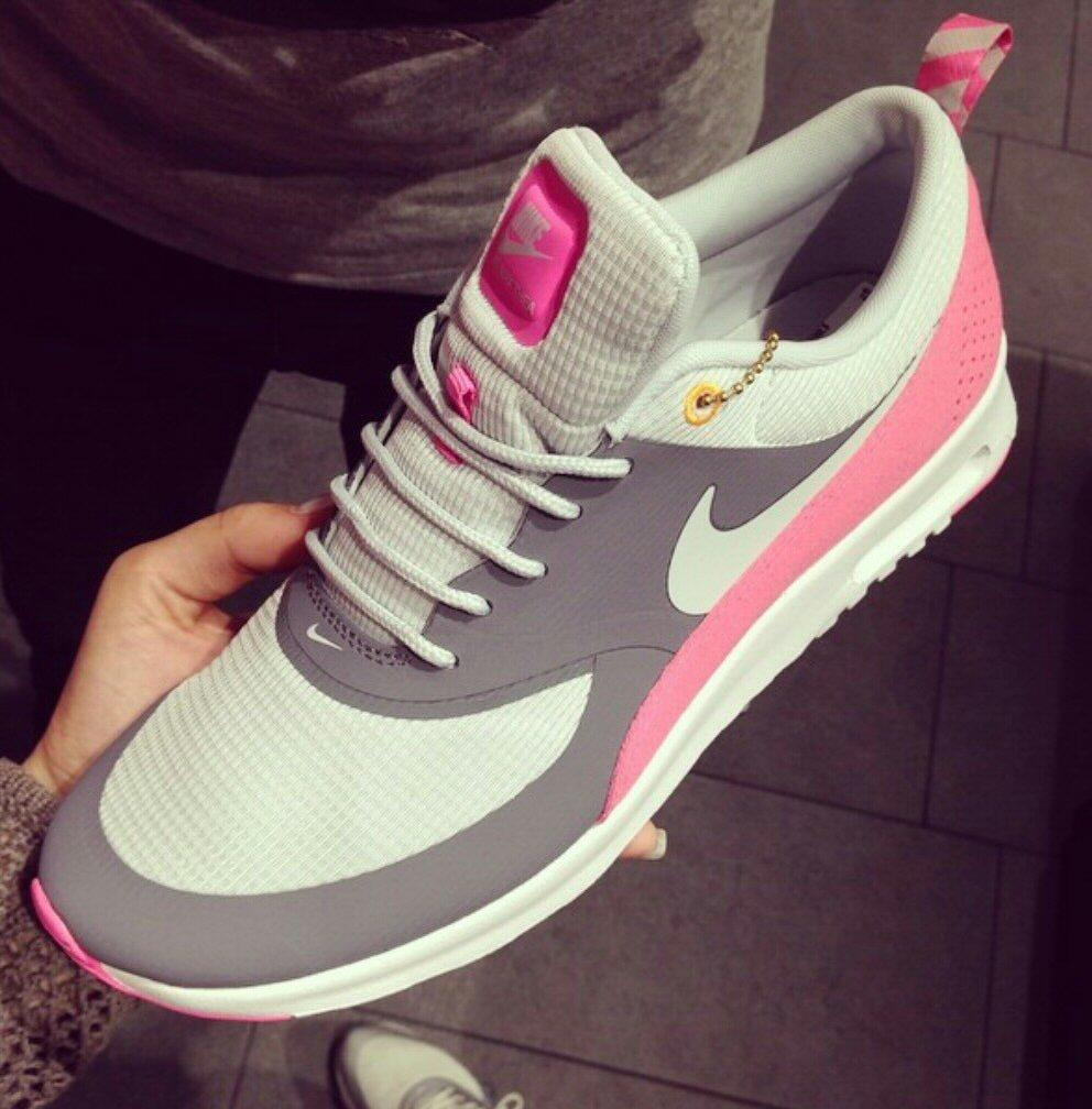 Nike Air Max Thea Grau Pink 42