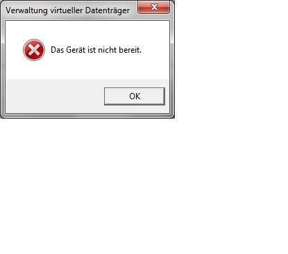 Screen 2 - Fehlermeldung - (Computer, PC, Festplatte)