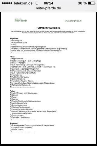 Turnier Check Liste ;-) - (Pferde, reiten, Schimmel)