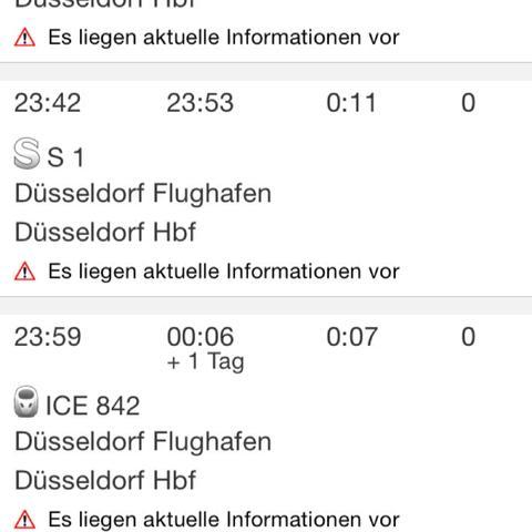 Die db app für fahrauskünfte   - (Flughafen, dus)