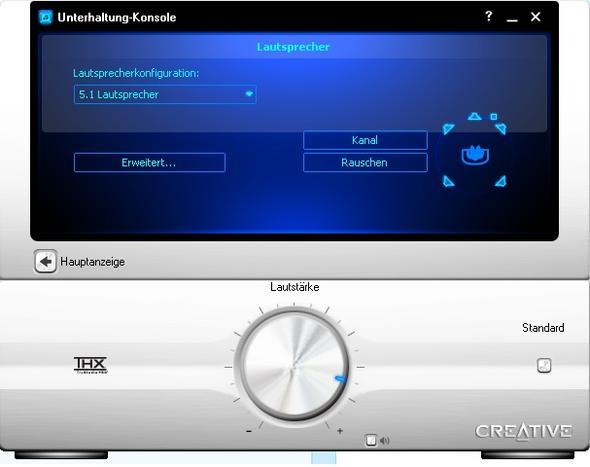 Einstellungen Creative 5.1 Soundkarte - (audio, Soundkarte, Teufel)