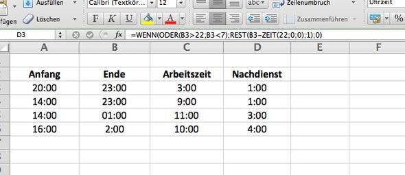 Excel - (Excel, Stundenzettel)