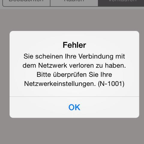 Fehlermeldung  - (online, Ebay)
