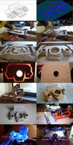 Hobby-CNC Maschine Woody-I bei Bearbeitung von MDF und Alu - (gebraucht, Cnc, Fräsmaschine)