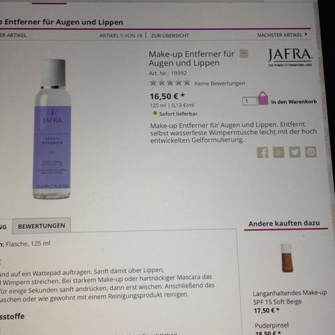 Jafra - (Schminke, waschen)