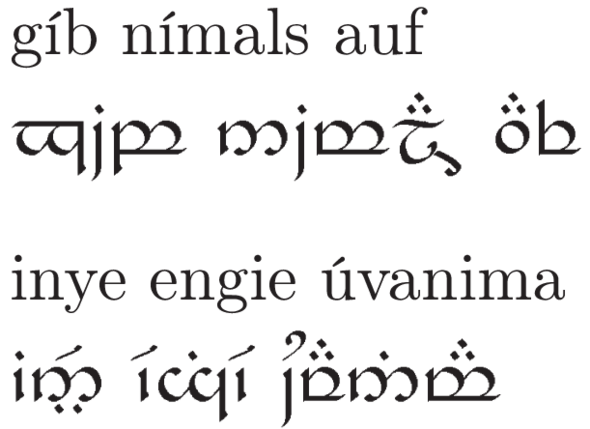 Tattoo In Elbisch