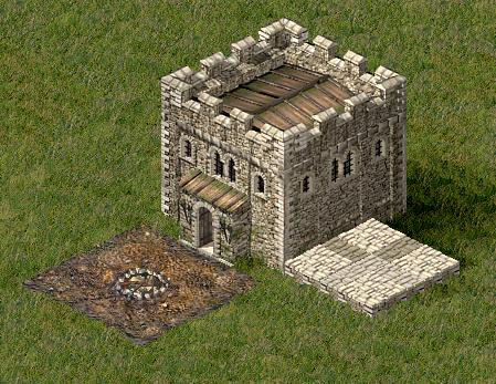Ein Bergfried aus Stronghold 1 - (PC-Spiele, Mittelalter)