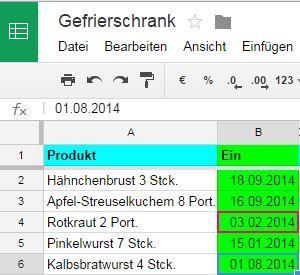 Tabelle in Google-Drive - (iPhone, App, Multimedia)