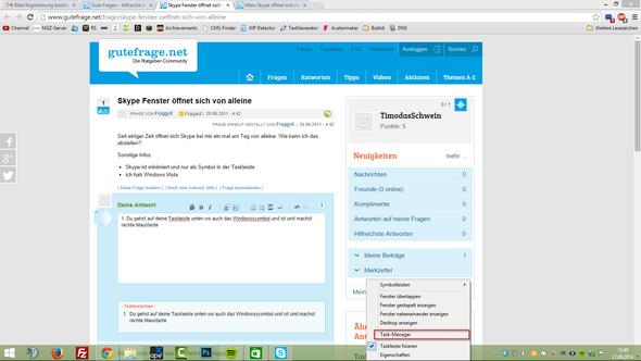 1. Schritt  - (Windows, Skype)