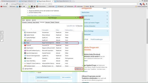 2. Schritt - (Windows, Skype)