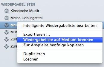iTunes Wiedergabeliste auf Medium brennen - (Musik, Technik, Auto)