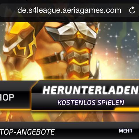 """Somit kommst du auf die S4 Seite und kannst dort auf """"herunterladen"""" drücken  - (Download, S4 League)"""