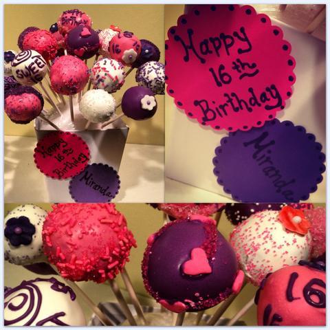 Cake Pops - (Geschenk, Geburtstag, beste Freundin)
