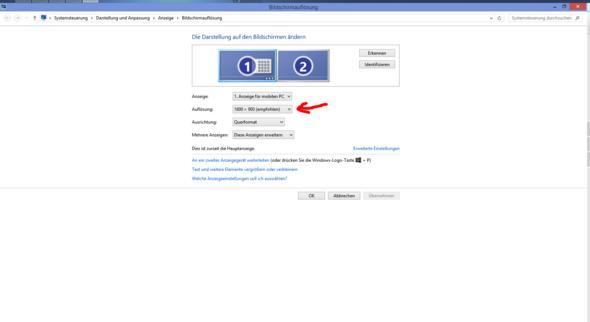 Bildschirmauflösung Menü - (PC, schrumpfen)