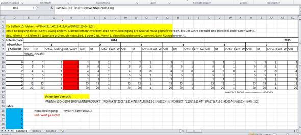 VBA in Excel - Schleife mit flexibler Bedingung (Schleifen, prüfen)