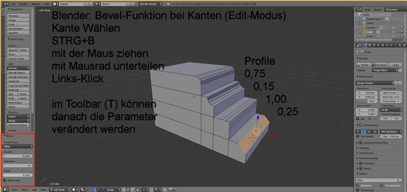 Blender Bevel - (3D, Blender)