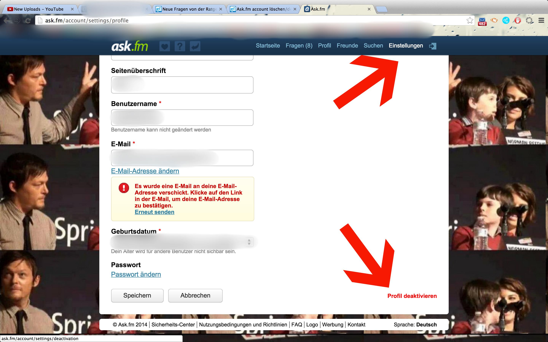 Ask.fm account löschen/deaktivieren!