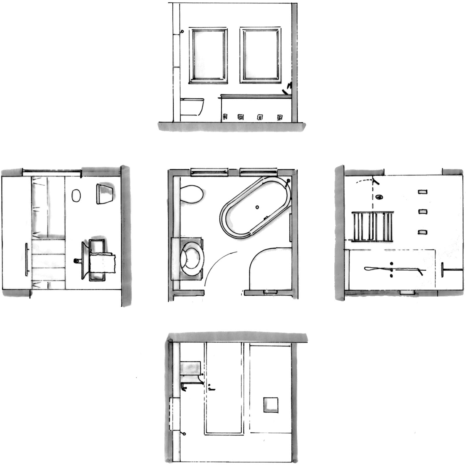badezimmer ideen grundriss ~ innenarchitektur und möbel inspiration, Badezimmer ideen
