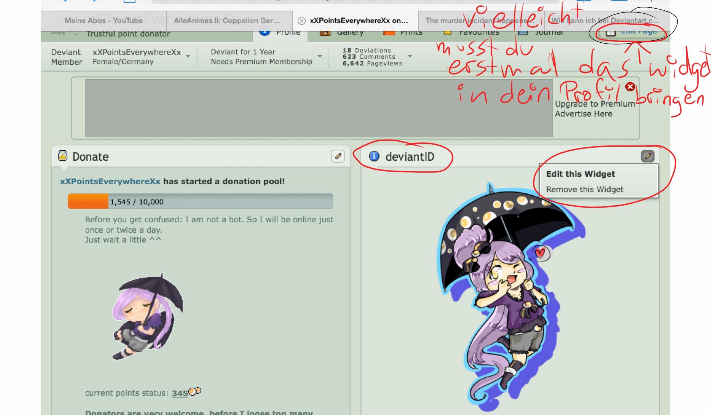 Wie kann ich bei Deviantart.com mein Profilbild ändern
