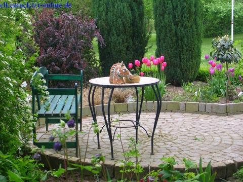 Sitzecke Im Garten Pflastern