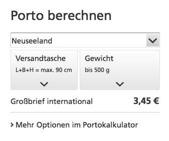 Post Nach Neuseeland Maxibrief Möglich Versand Deutsche Post