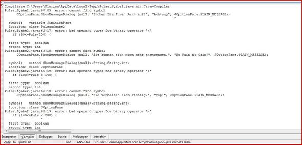 Die Fehler - (Informatik, Java, iframe)