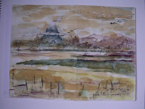 Landschaft -frei gemalt - wie Japan - (Anime, Kunst, Japan)