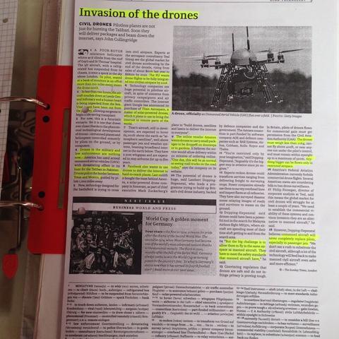 Englisch Zeitungsartikel