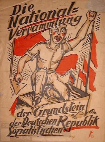 Plakat für deutsche Sozialistische Republik, obwohl Sozialismus verhindert wird - (Staat, Kommunismus)