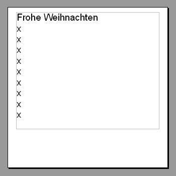 Karte im Format 6 x 6cm (Quelle: GF/electrician) - (Bilder, Geschenk, Foto)