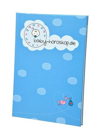 Baby Horoskop Einband blau - (Geschenk, Geburt, Pate)