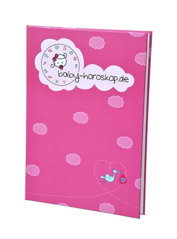 Baby Horoskop Einband rosa - (Geschenk, Geburt, Pate)