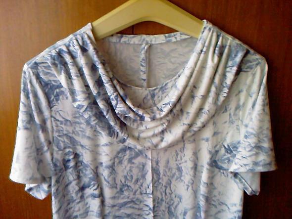 Kleid/Shirt Wasserfallkragen - (Kleidung, billig, nähen)