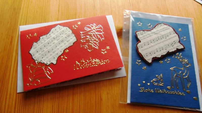 Karten basteln zu weihnachten for Basteln weihnachten erwachsene