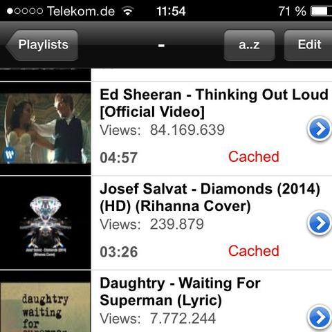 Und dann kann man auch Playlists machen  - (App, Kosten, deezer)