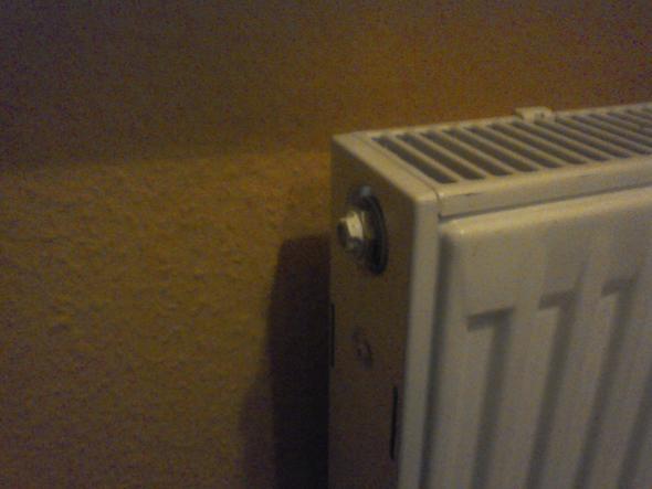 da ist das ventil mit der schraube - (Heizung, Sanitär, Klempner)
