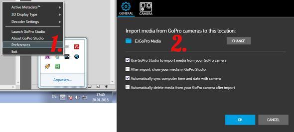 Ort der Dateien - (Computer, GoPro, Actioncam)